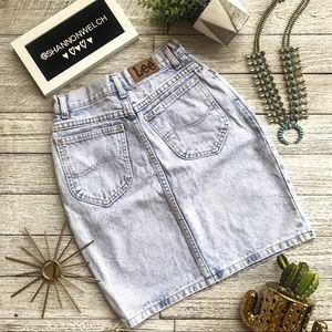 Vintage LEE acid high waisted skirt